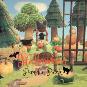 【あつ森ハロウィン】森の中の小さなかぼちゃ畑