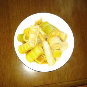 淡竹で土佐煮