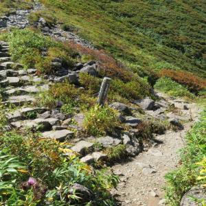 姥ヶ岳周りでリフトで下山