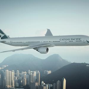 キャセイパシフィック航空プレミアムエコノミークラス シンガポール発ニューヨーク行きが安い