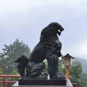 狼とMダックスと天空の青い空【武蔵御嶽神社②】
