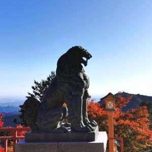 紅葉の御岳山から奥の院へ〜武蔵御嶽神社②