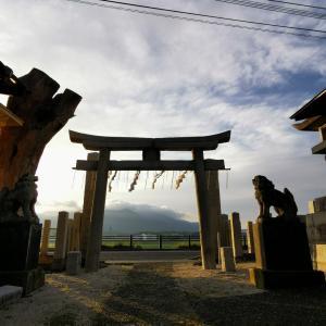 遠賀川を見渡す稲荷さま〜博識稲荷神社
