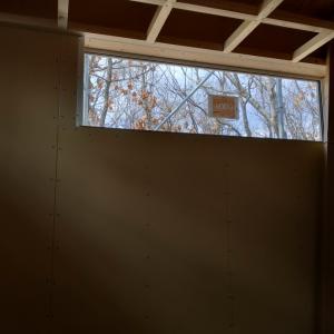 《着工217日目》景色を切り取った子供部屋の窓