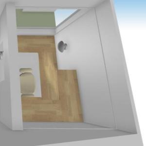 家事室の造作カウンターのこだわり部分