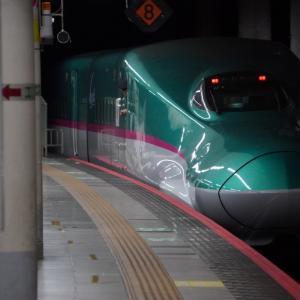 南新宿駅の参宮橋駅寄りの対岸構図・駅の下・高架線からの踏切