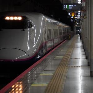 「南新宿駅」1番線から対岸を去る電車を望見・参宮橋駅からの踏切と架道橋