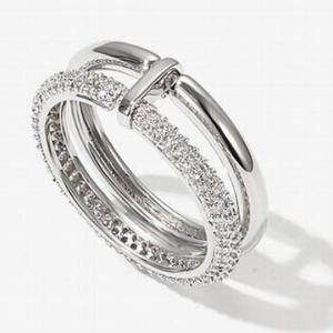 リング 指輪 キュービックジルコニア シンプル 韓国アクセサリー 2連リング CZ アクセサリー