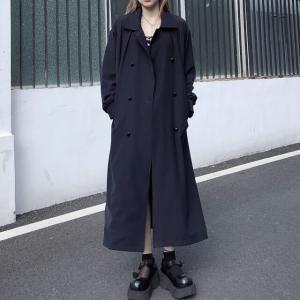 ロングコート ベルト付き ダブルブレスト 韓国ファッション レディース 大人可愛い ガーリー