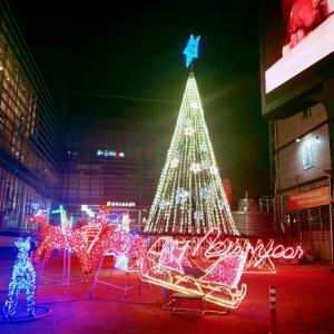 今の明洞と昨年のクリスマスのイルミネーション☆