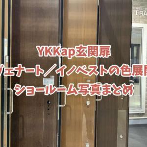 YKKap②玄関扉。ラスティックウッドとショコラウォールナットの違い