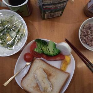 自宅では、朝食を大事に