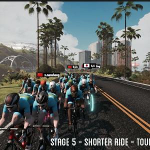 Stage 5 - Shorter Ride - Tour of Watopia 2020