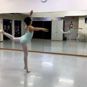 今日のバレエレッスン風景20210416