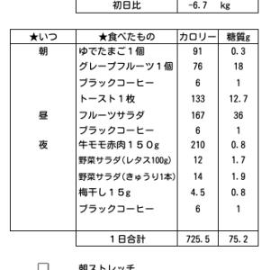 【50日目】5/17(月)前日比-0.4kg デンマークダイエット6日目