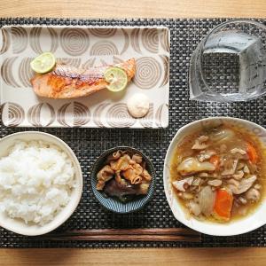 タルタルソースで食べる生鮭定食ごはん【和食献立】