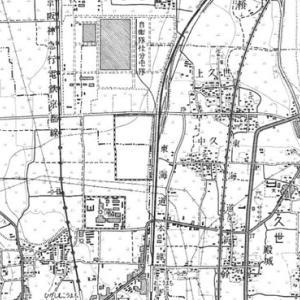 鉄道の廃線と地図1 向日町の自衛隊専用線