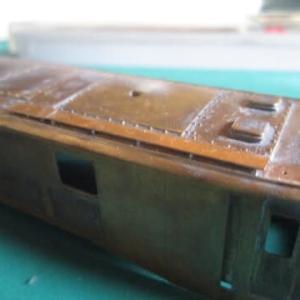 鉄道模型社 EF58 車体は自作 10 モニターと抵抗器カバー