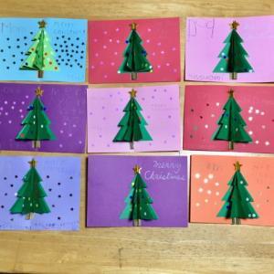 クリスマス カード作り