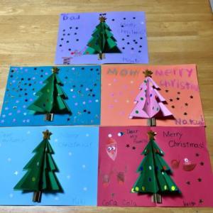 水曜日クラスのクリスマスカード