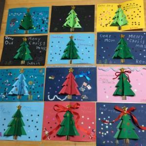 木曜クラスのクリスマスカード