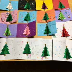 アソカ教室 クリスマスカード作り