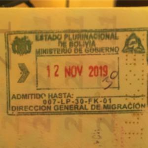 ボリビア、オーバーステイ、ウユニ移民局、ビザ、出国チケット