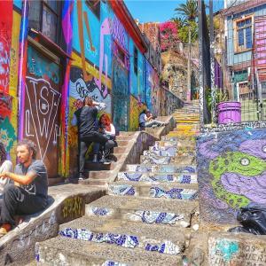 Valparaiso街歩き