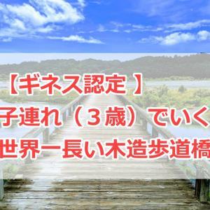 【 ギネス認定 】子連れ(3歳)でいく世界一長い木造歩道橋