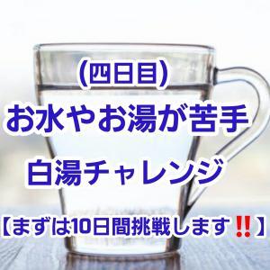 【10日間白湯チャレンジ】→四日目