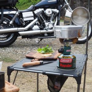 ④月ケ瀬キャンプツーリングその4 キャンプ飯 メスティンで牡蠣ご飯