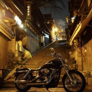 京都おやじぃナイトツーリング 昔ながらの中華そばと雨の三年坂(産寧坂)
