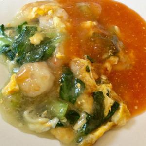 【レシピあり】ぷるぷるのエビオムレツ!蝦仁煎を作ってみました