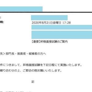 昇格試験の案内メールがきました。