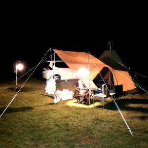 テント補修を兼ねてソロキャンプ@藺牟田池キャンプ場