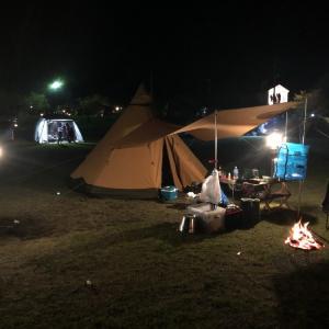 満員御礼(?)のキャンプ場@霧島高原国民休養地