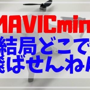MAVICmini(200g未満)は結局どこで飛ばせる?