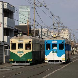 阪堺モ161形車「住吉っさん」初詣輸送撮影記(14)まずは、我孫子道。