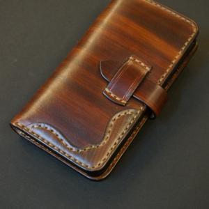 wood brown スマートフォンケース