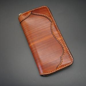 ラウンドファスナーロング light wood brown 03