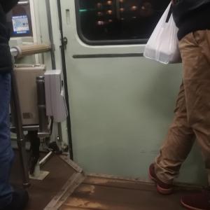 函館市電で五稜郭公園前に向かう宵の2019晦日