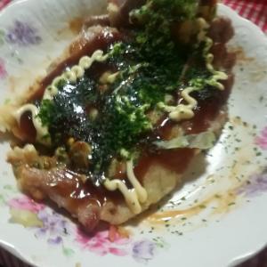 #112 今年2度目のお好み焼きOkomiyaki Japanese style pancake