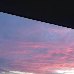 #287 内浦湾上空の鮭色茜雲Salmon pink clouds over the Bay