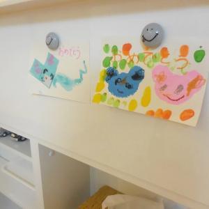子供の作品、飾る定位置は(^^♪