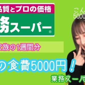 【激安】【業務スーパー購入品】1週間分の食費5000円以内✨3人家族の食材🐟