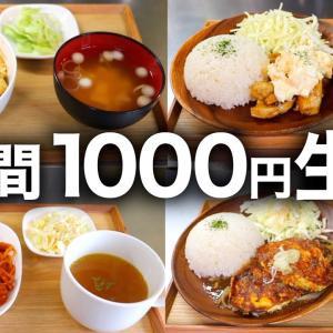 【初心者向けのオススメ】『1週間1000円生活』を全力で豪華にしてみた!