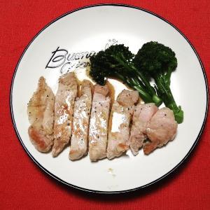 自家製ブロッコリー と ふるさと納税 北海道オホーツク佐呂間産 サロマ豚厚切りロース1.3kg[冷蔵]