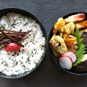 しぐれ煮と天ぷらの和弁当