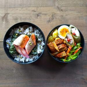 魚肉ソーセージの春巻き弁当
