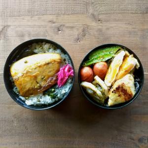 鯖の塩焼き弁当と四角豆